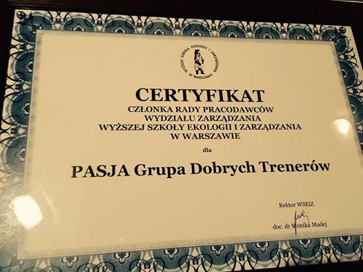 PASJA G.D.T. wyróżniona przez WSEiZ w Warszawie