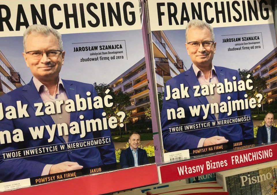 """Wywiad z Jakubem Lewandowskim na łamach """"FRANCHISING"""""""