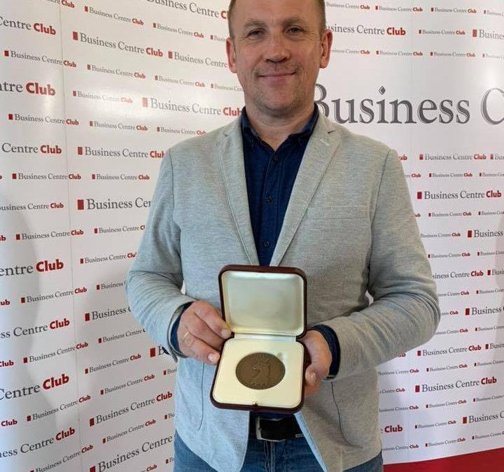 """Medal Europejski od Business Centre Club za projekt """"Mowa Motywacyjna. Budowanie Mistrzowskich Zespołów"""""""