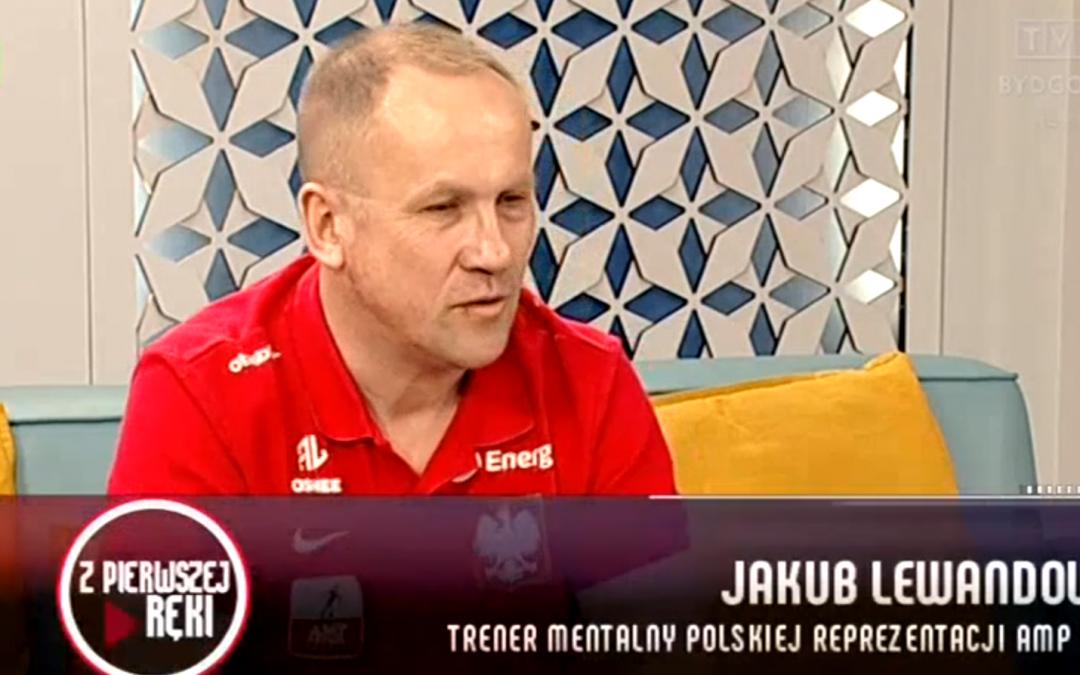 """Gościem programu """"Z pierwszej ręki"""" w TVP Bydgoszcz był Jakub Lewandowski"""